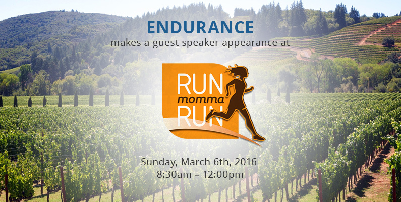 Endurance Presenting at Run Momma Run Winery Run & Brunch!